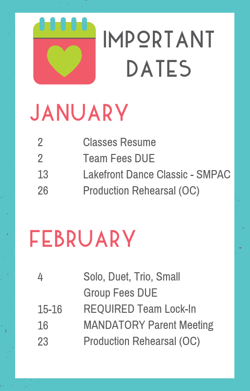 Team Newsletter January 2019 Academy Of Performing Arts
